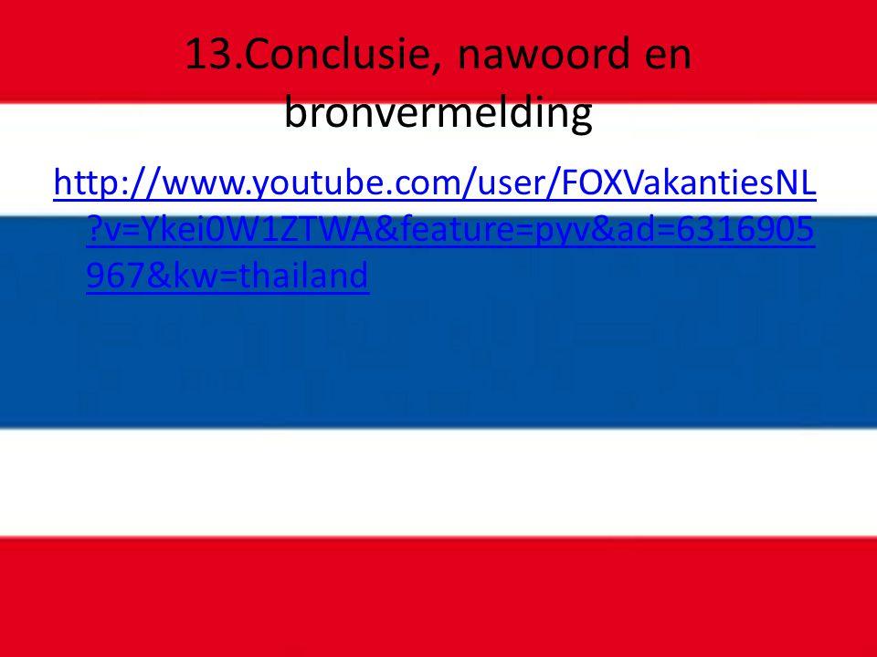 13.Conclusie, nawoord en bronvermelding