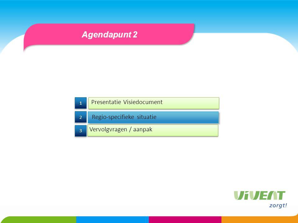 Agendapunt 2 Presentatie Visiedocument Regio-specifieke situatie