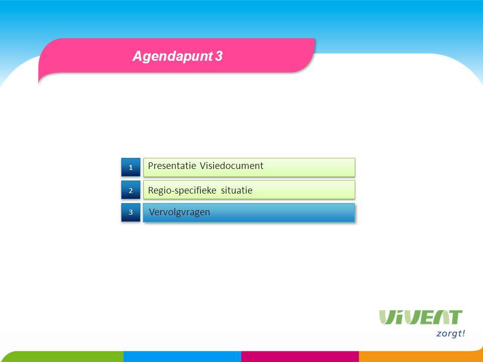 Agendapunt 3 Presentatie Visiedocument Regio-specifieke situatie
