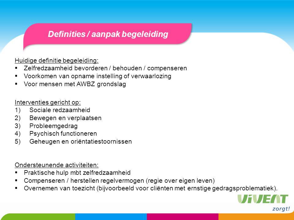 Definities / aanpak begeleiding