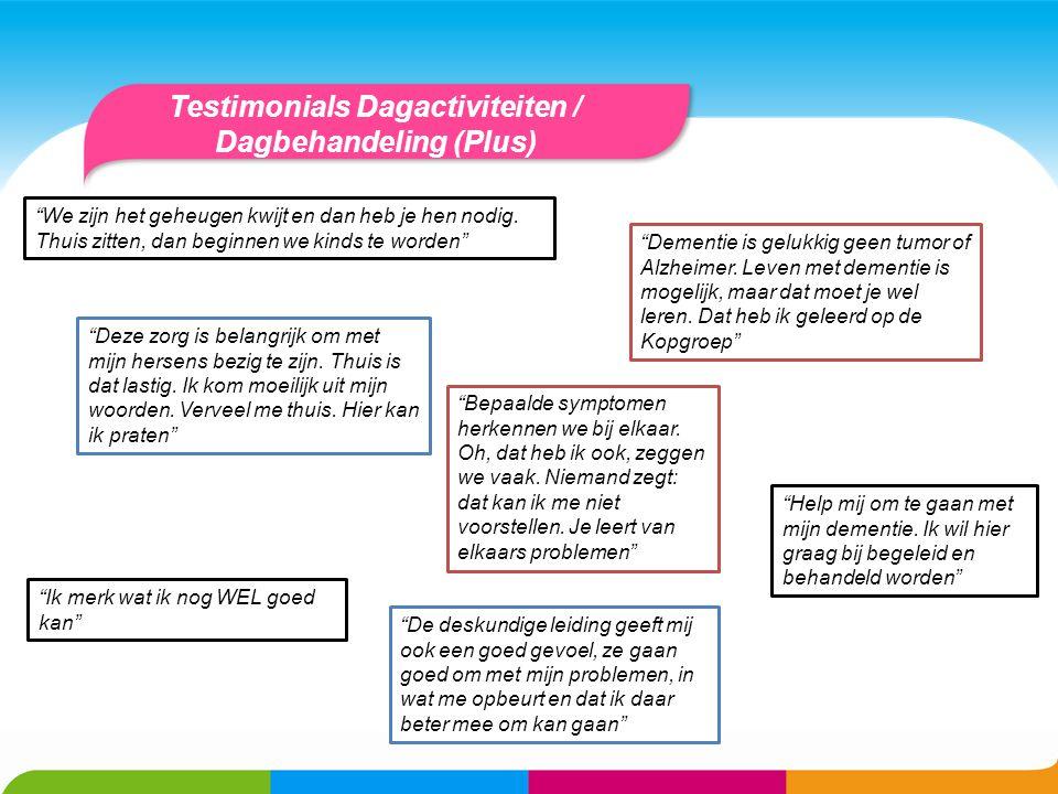 Testimonials Dagactiviteiten / Dagbehandeling (Plus)