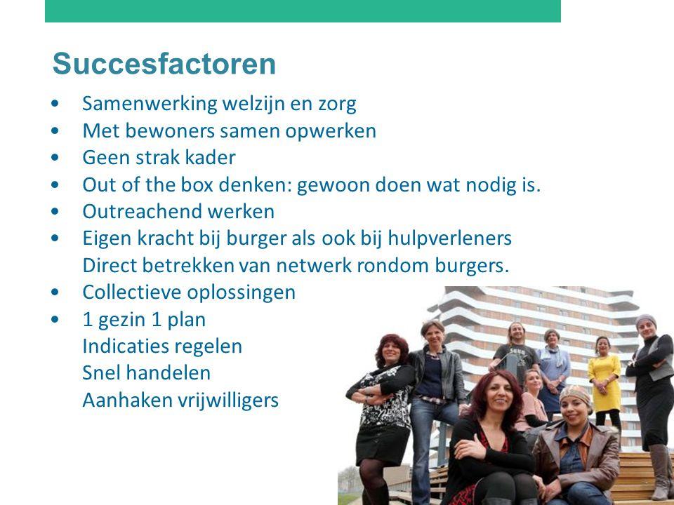 Succesfactoren Samenwerking welzijn en zorg