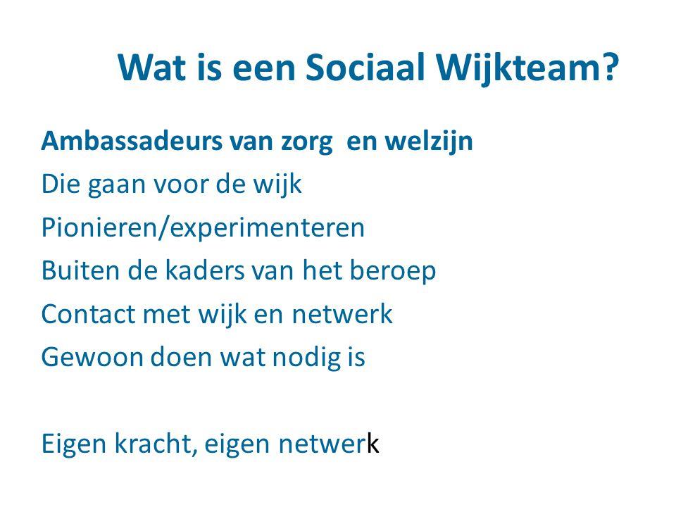 Wat is een Sociaal Wijkteam