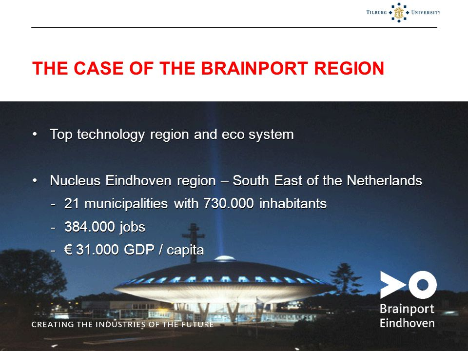 THE CASE OF THE BRAINPORT REGION