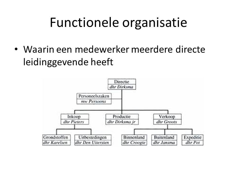 Functionele organisatie