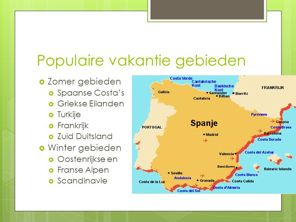 Populaire vakantie gebieden