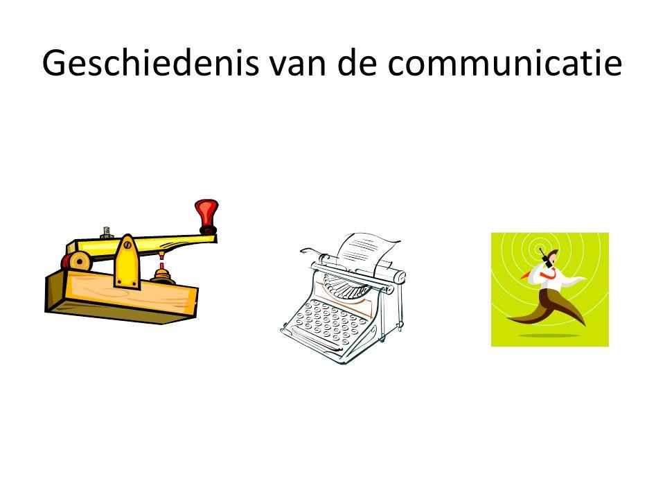 Geschiedenis van de communicatie