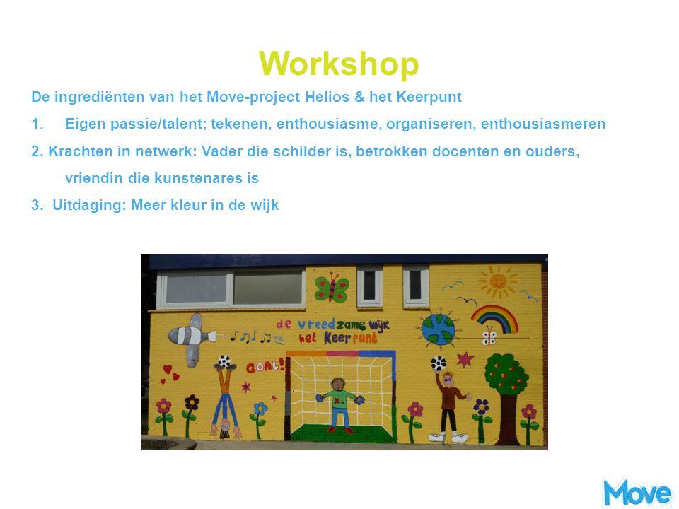 Workshop De ingrediënten van het Move-project Helios & het Keerpunt