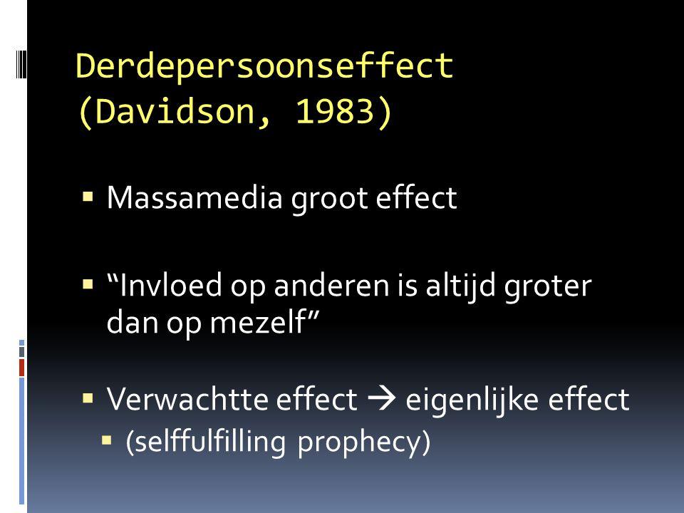 Derdepersoonseffect (Davidson, 1983)