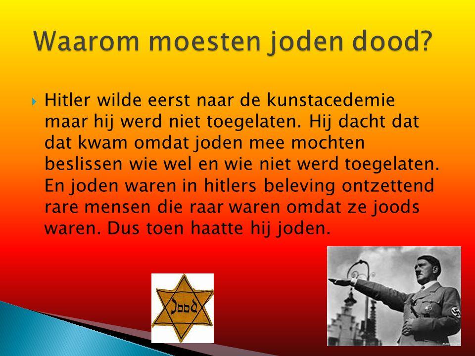 Waarom moesten joden dood