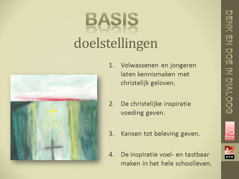 basis doelstellingen Denk en doe in dialoog