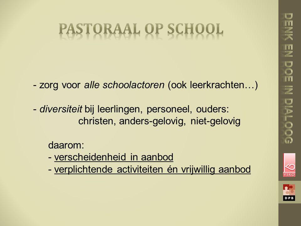 pastoraal op school Denk en doe in dialoog
