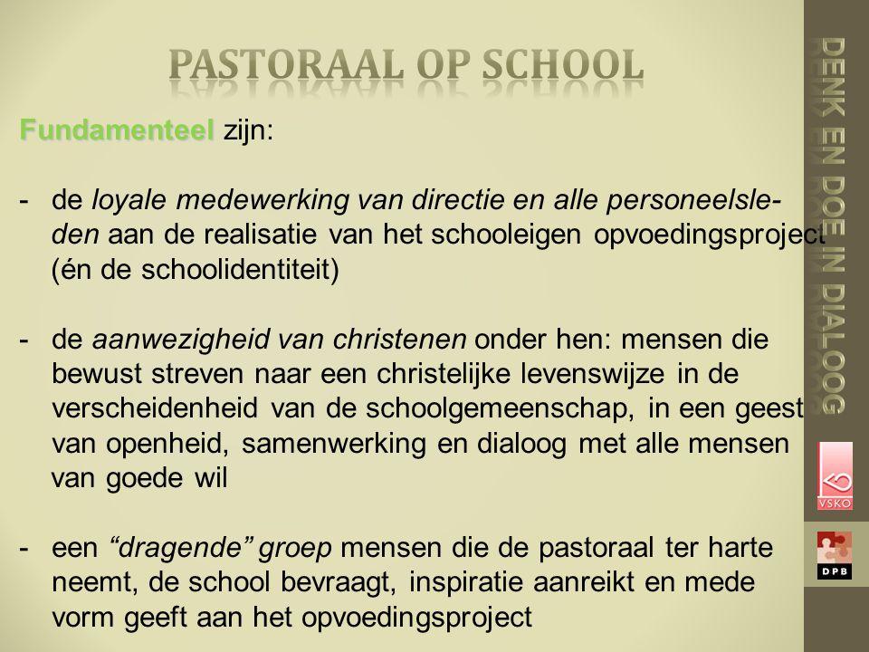 pastoraal op school Fundamenteel zijn: Denk en doe in dialoog