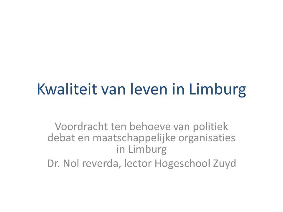 Kwaliteit van leven in Limburg