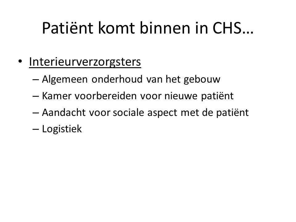 Patiënt komt binnen in CHS…