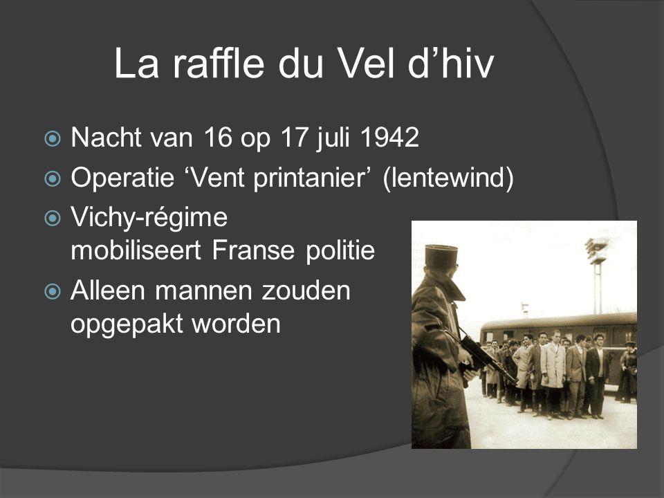 La raffle du Vel d'hiv Nacht van 16 op 17 juli 1942