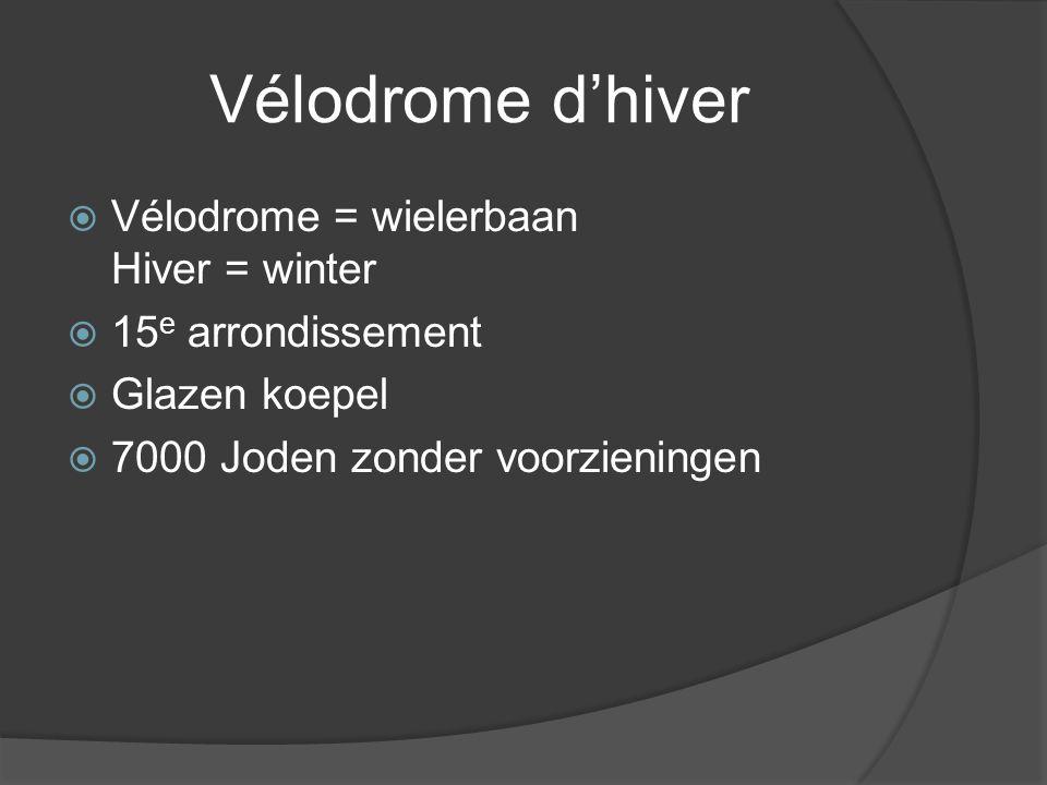 Vélodrome d'hiver Vélodrome = wielerbaan Hiver = winter