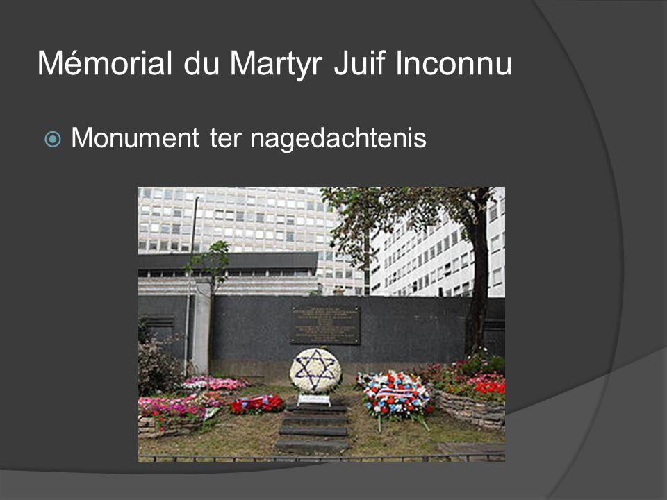 Mémorial du Martyr Juif Inconnu