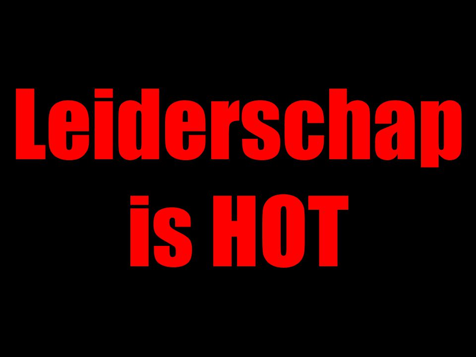 Leiderschap is HOT
