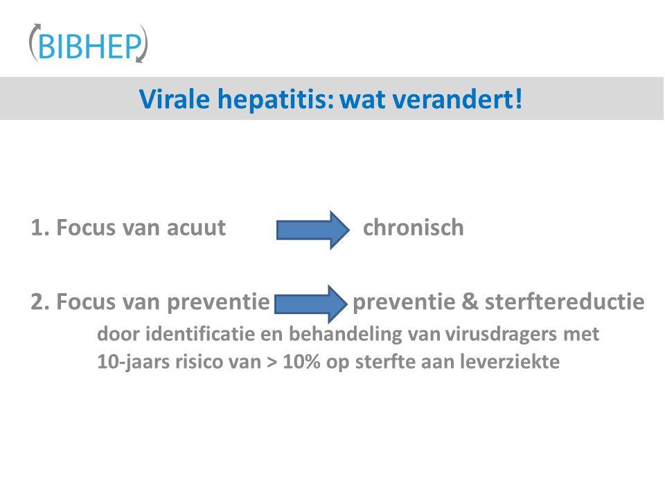 Virale hepatitis: wat verandert!