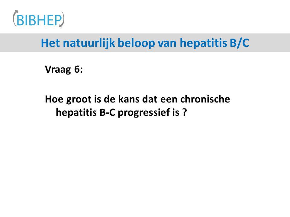Het natuurlijk beloop van hepatitis B/C
