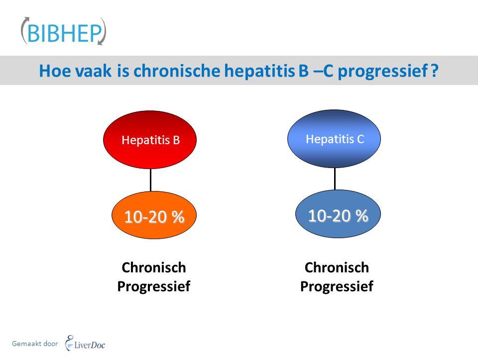 Hoe vaak is chronische hepatitis B –C progressief