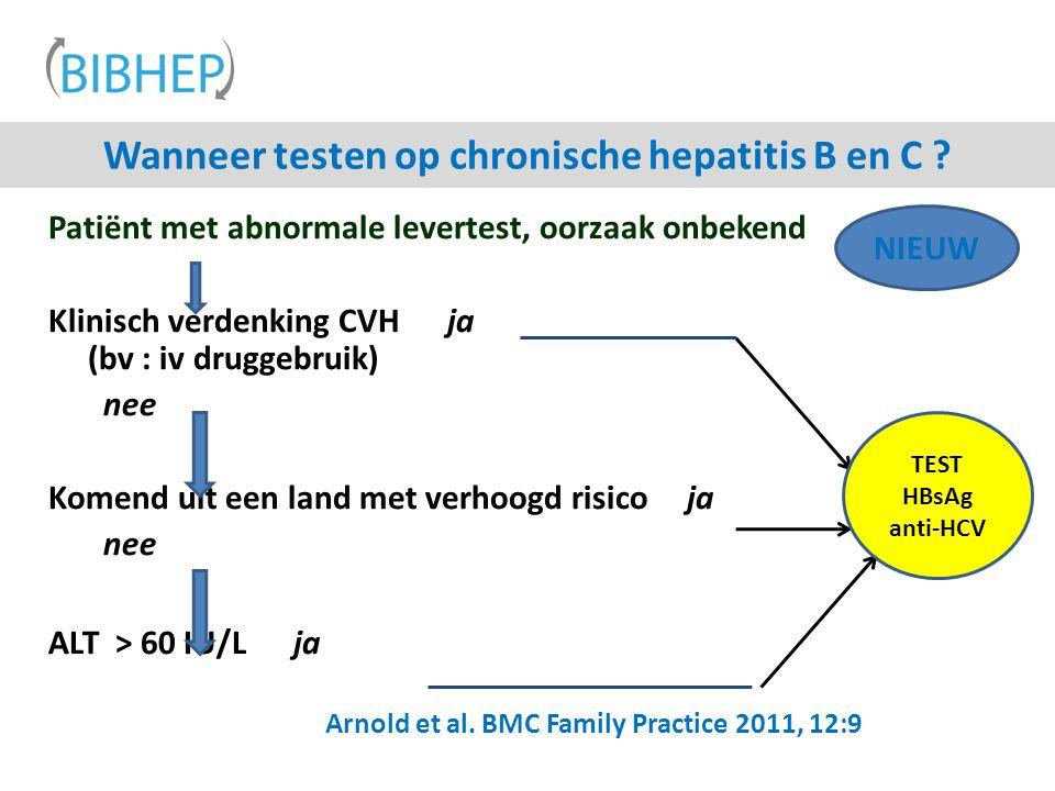 Wanneer testen op chronische hepatitis B en C
