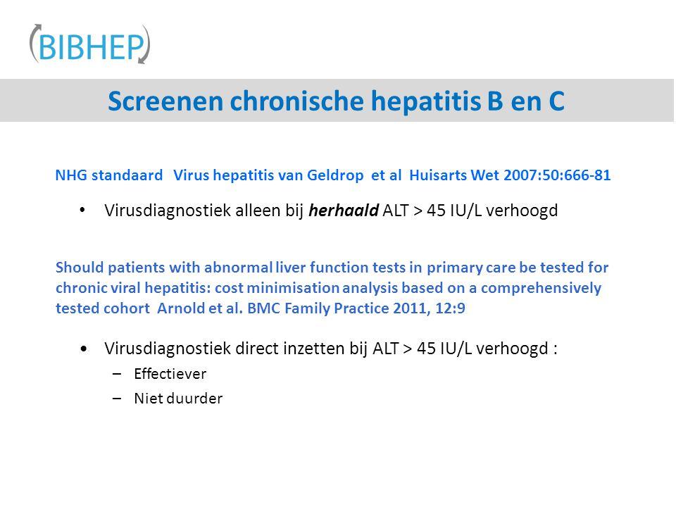 Screenen chronische hepatitis B en C