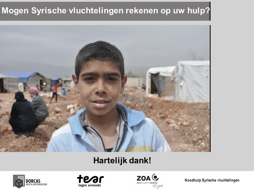 Mogen Syrische vluchtelingen rekenen op uw hulp