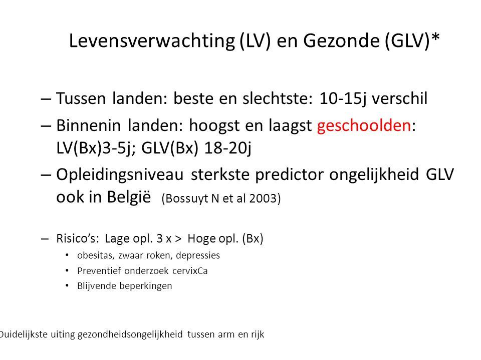Levensverwachting (LV) en Gezonde (GLV)*