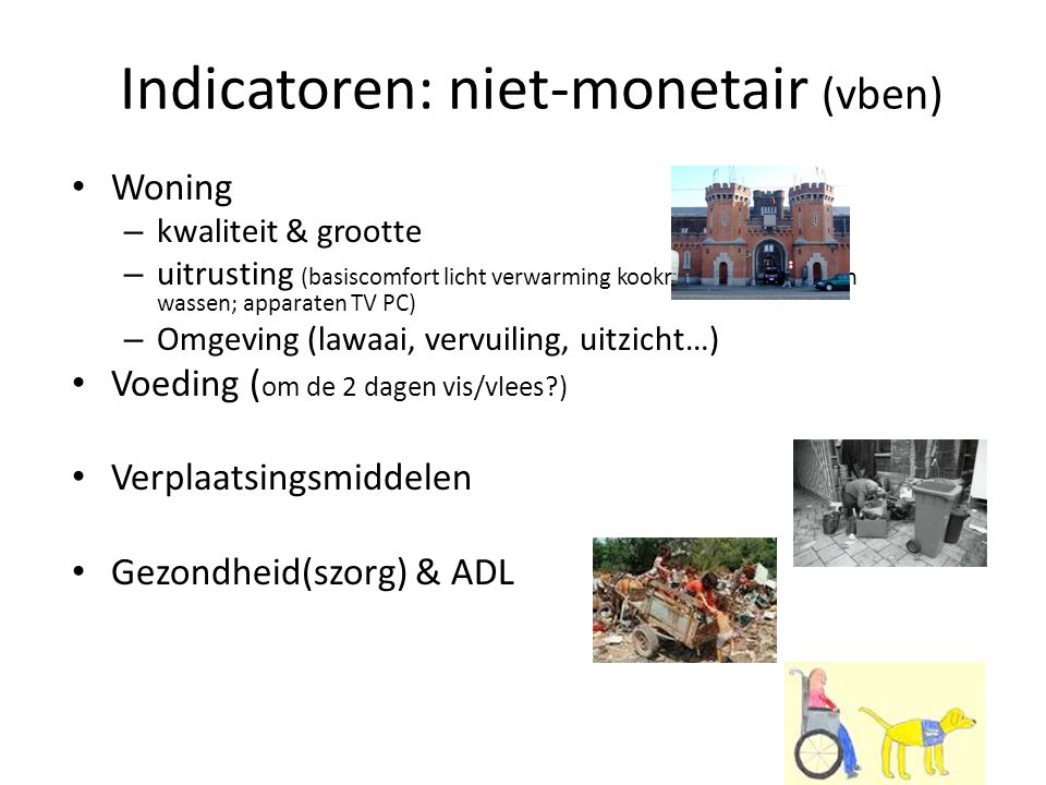 Indicatoren: niet-monetair (vben)