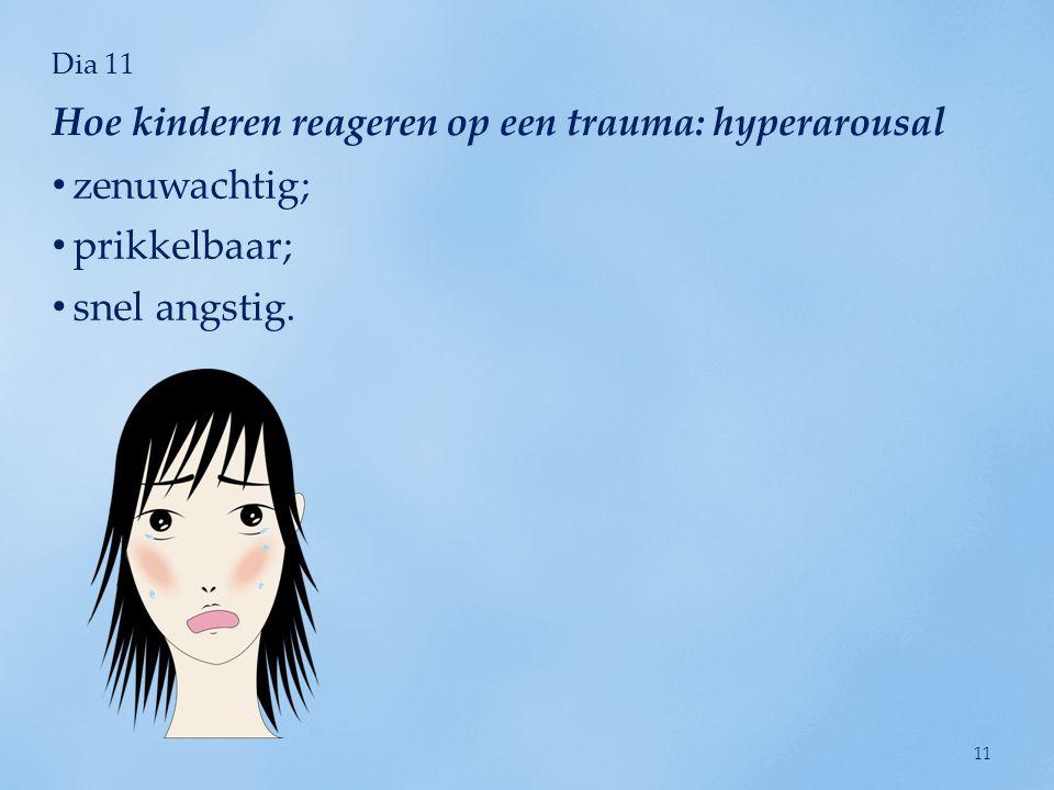 Hoe kinderen reageren op een trauma: hyperarousal