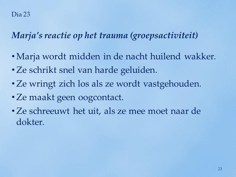 Marja's reactie op het trauma (groepsactiviteit)