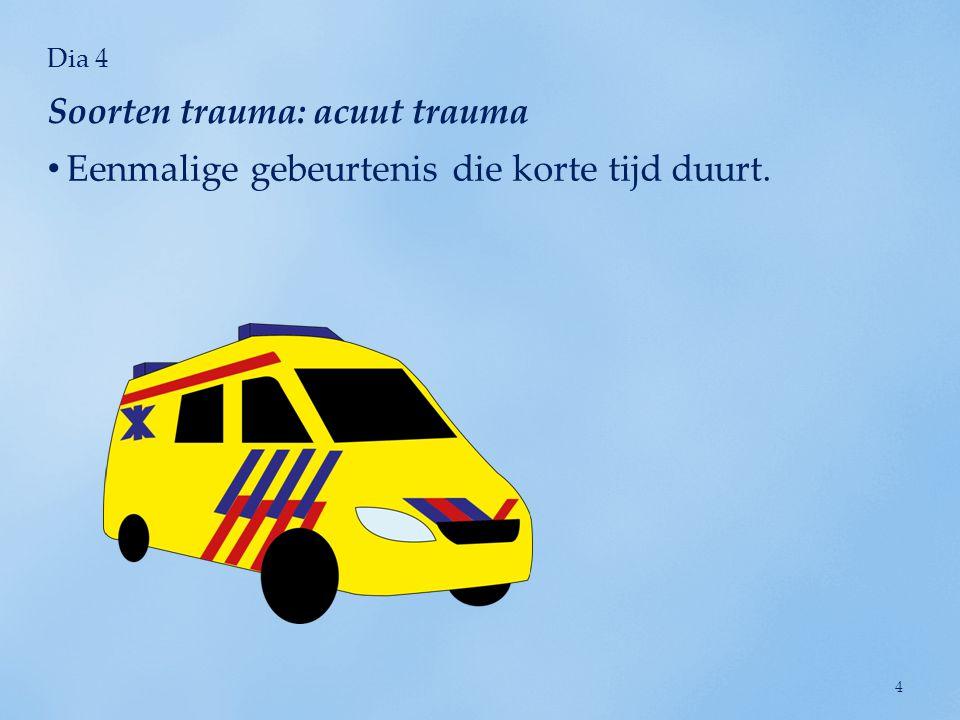 Soorten trauma: acuut trauma