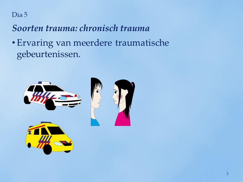 Soorten trauma: chronisch trauma