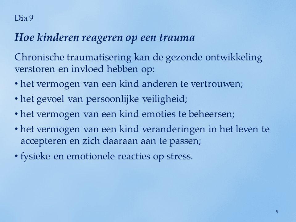 Hoe kinderen reageren op een trauma