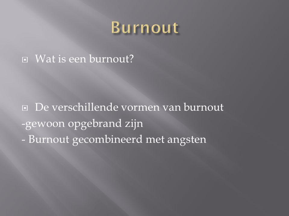 Burnout Wat is een burnout De verschillende vormen van burnout