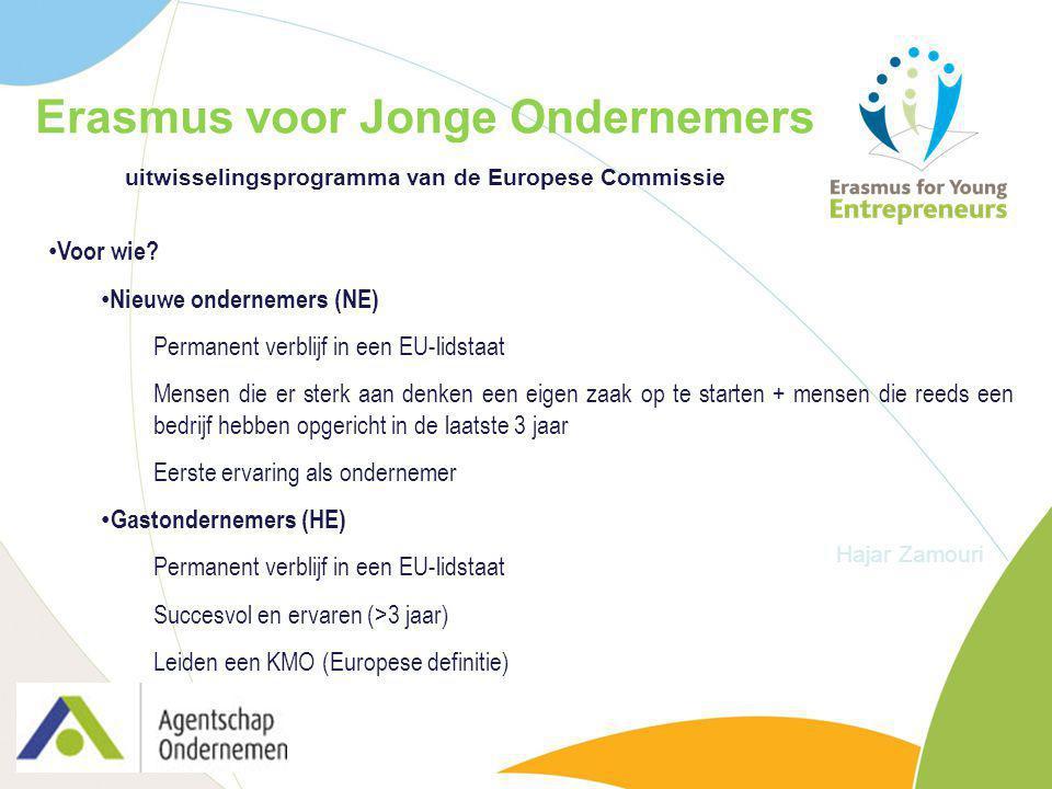Erasmus voor Jonge Ondernemers uitwisselingsprogramma van de Europese Commissie