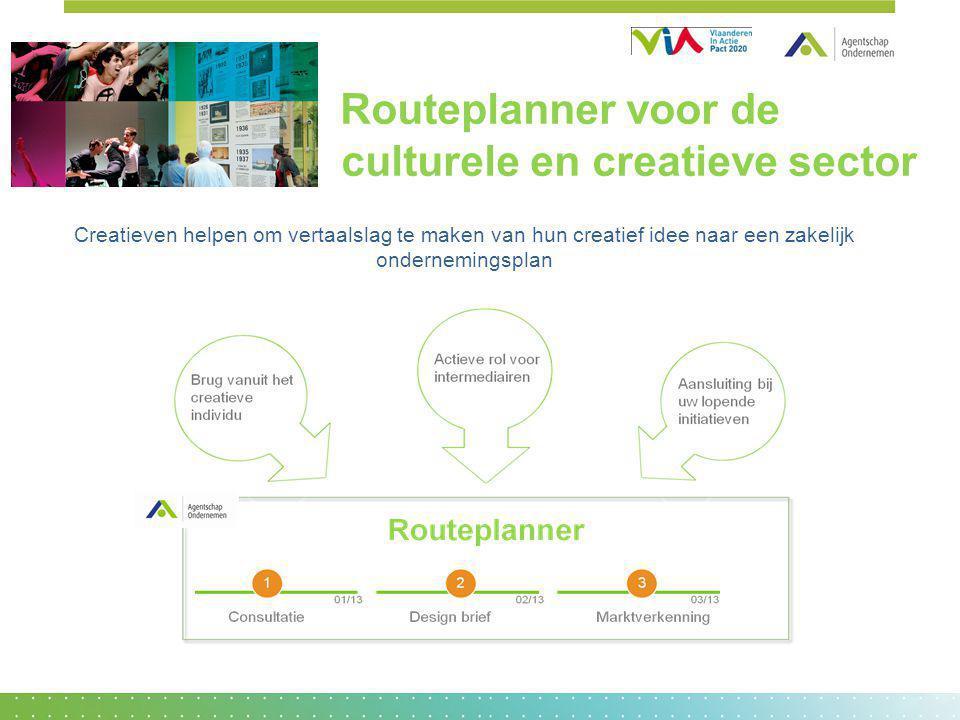 Routeplanner voor de culturele en creatieve sector