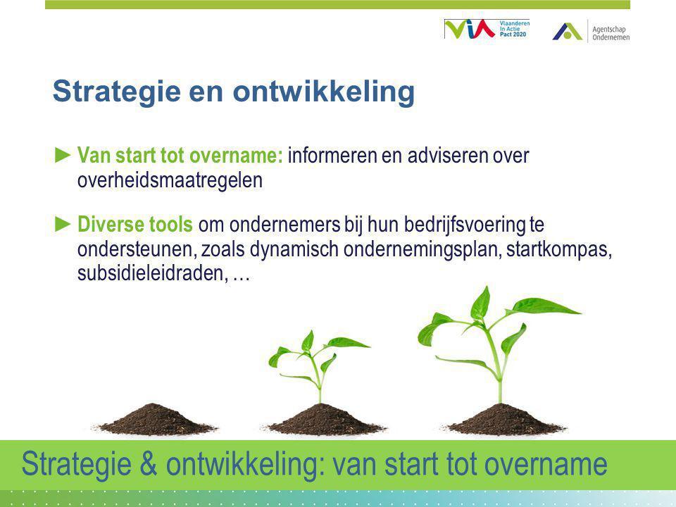 Strategie & ontwikkeling: van start tot overname