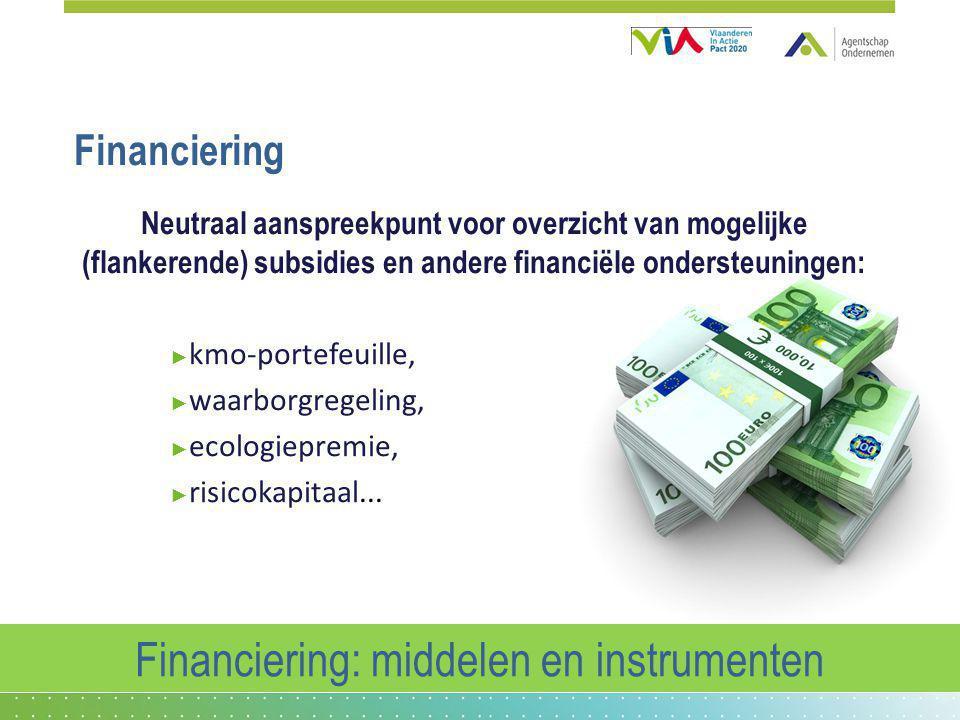 Financiering: middelen en instrumenten