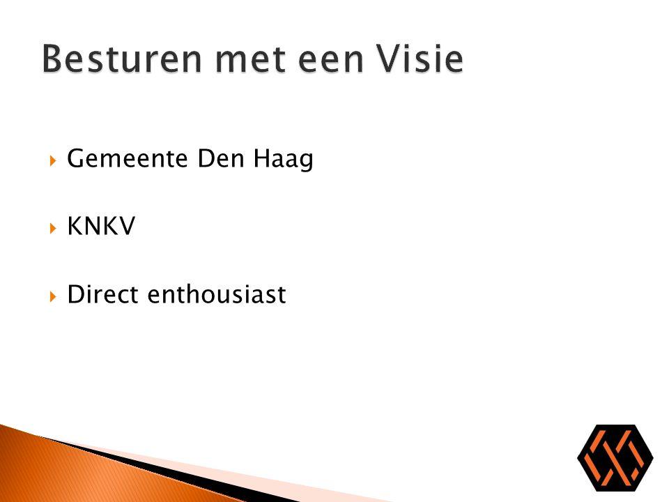 Besturen met een Visie Gemeente Den Haag KNKV Direct enthousiast