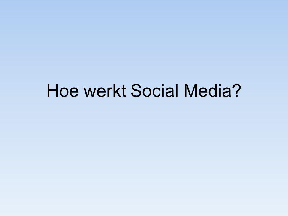 Hoe werkt Social Media