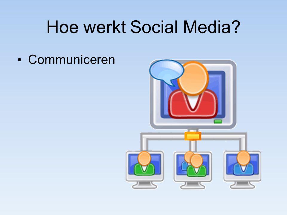Hoe werkt Social Media Communiceren