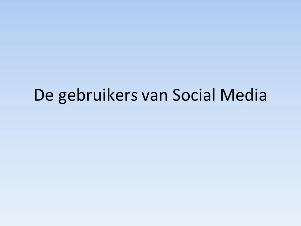 De gebruikers van Social Media