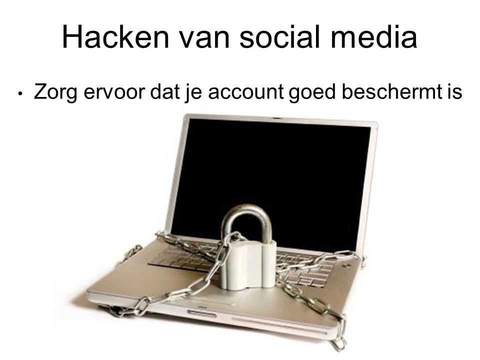 Hacken van social media