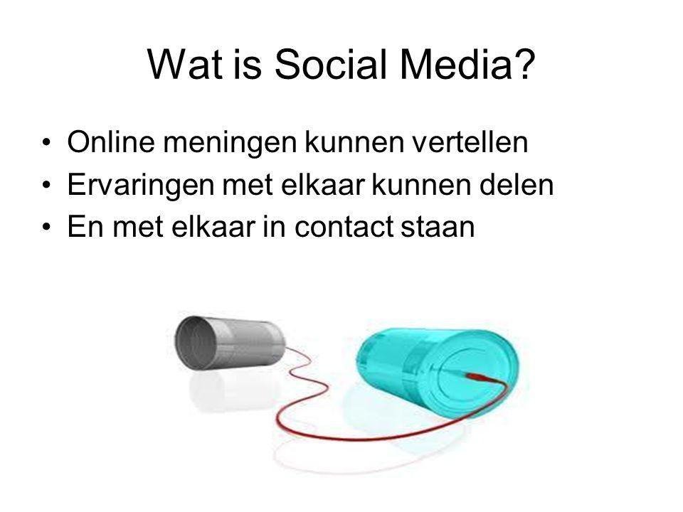Wat is Social Media Online meningen kunnen vertellen