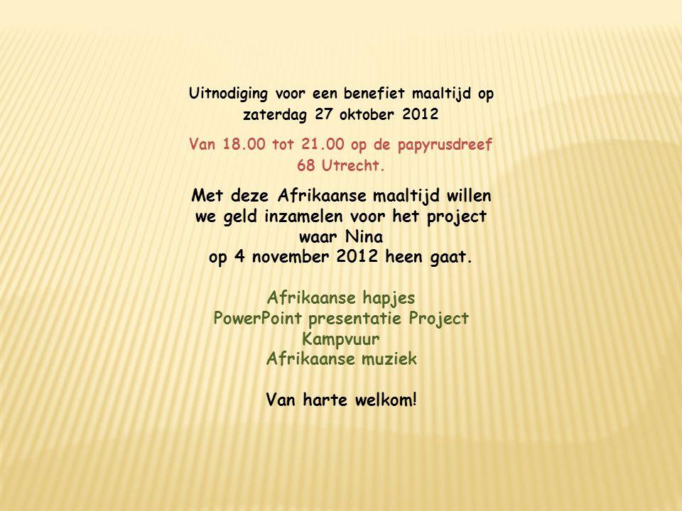 PowerPoint presentatie Project Kampvuur Afrikaanse muziek