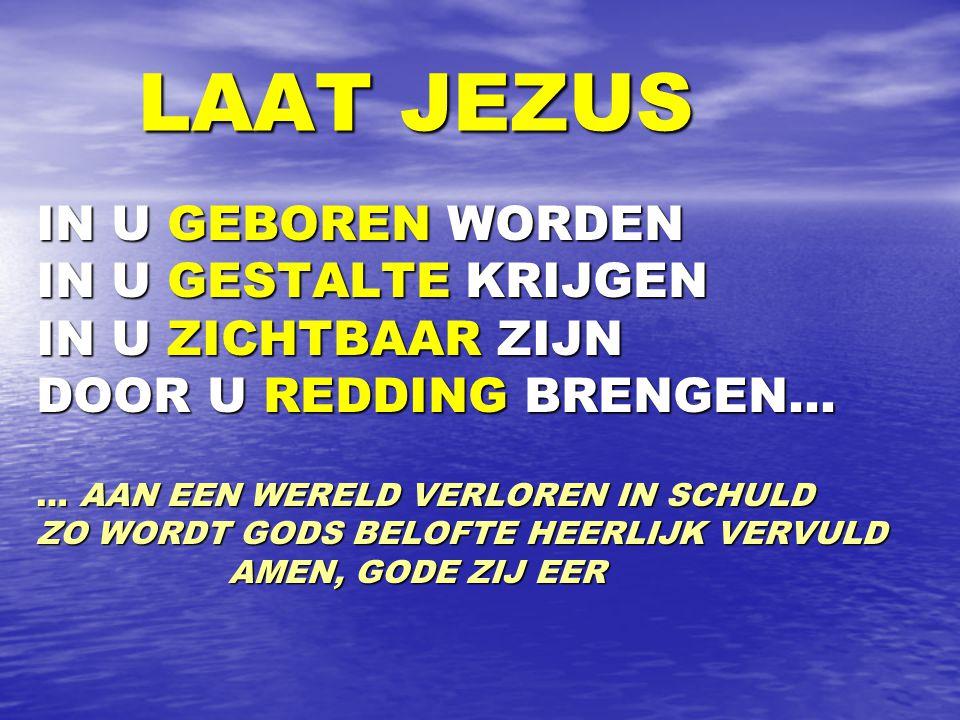 LAAT JEZUS IN U GEBOREN WORDEN IN U GESTALTE KRIJGEN