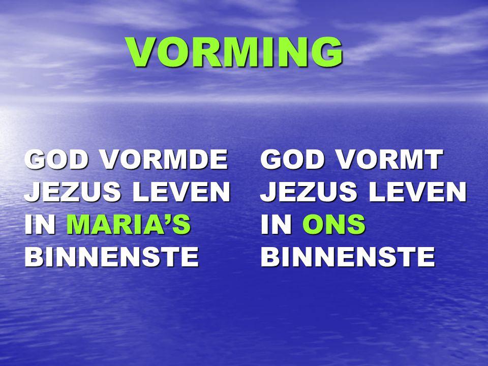 VORMING GOD VORMDE JEZUS LEVEN IN MARIA'S BINNENSTE